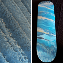 Layers in the Galle Crater, Mars - Skateboard - SOLD