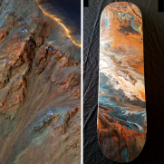 Krupac Crater, Mars - Skateboard