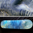Splitting of the Dunes, Mars - Skateboard - SOLD